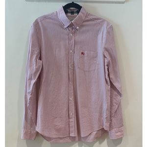 Striped Burberry Button Up Shirt